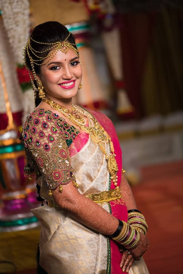 d1de356e66982f Get lost in thousands of photos of Latest Bridal Blouse Designs in Chennai  to inspire you for South Indian Bride, Ezwed covers real weddings and  reviews.