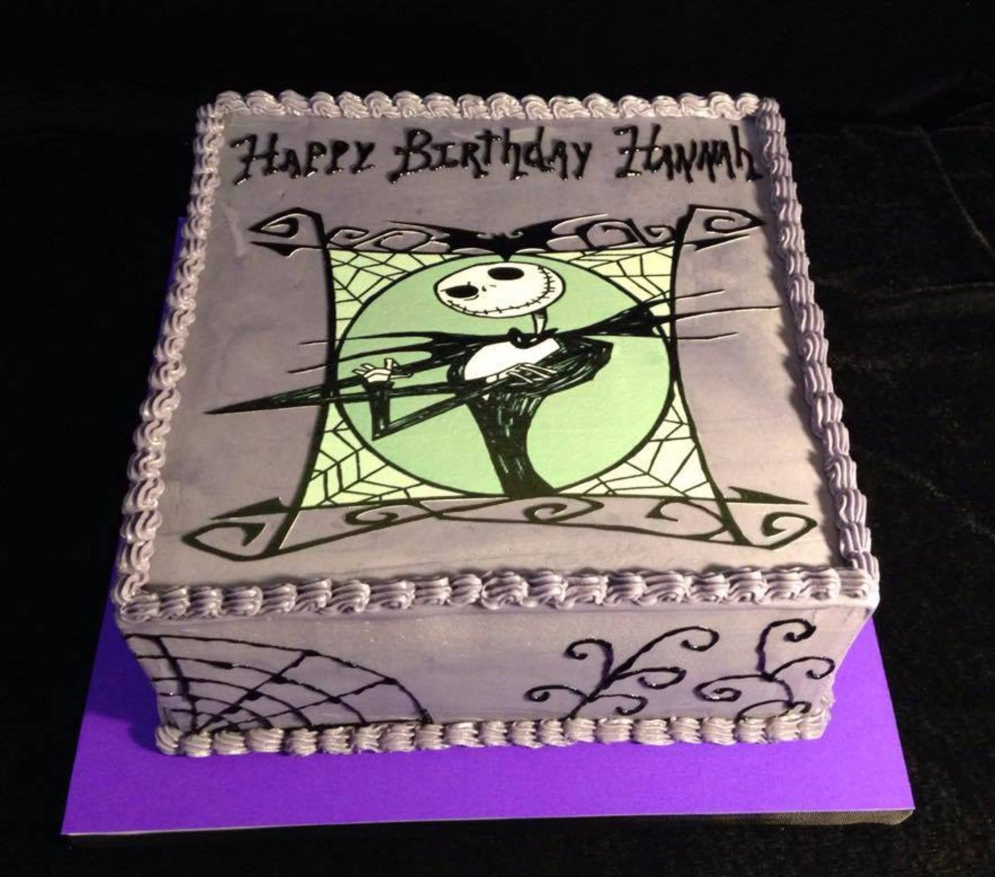 Jack Skellington birthday cake All for Love Bakerys custom cakes