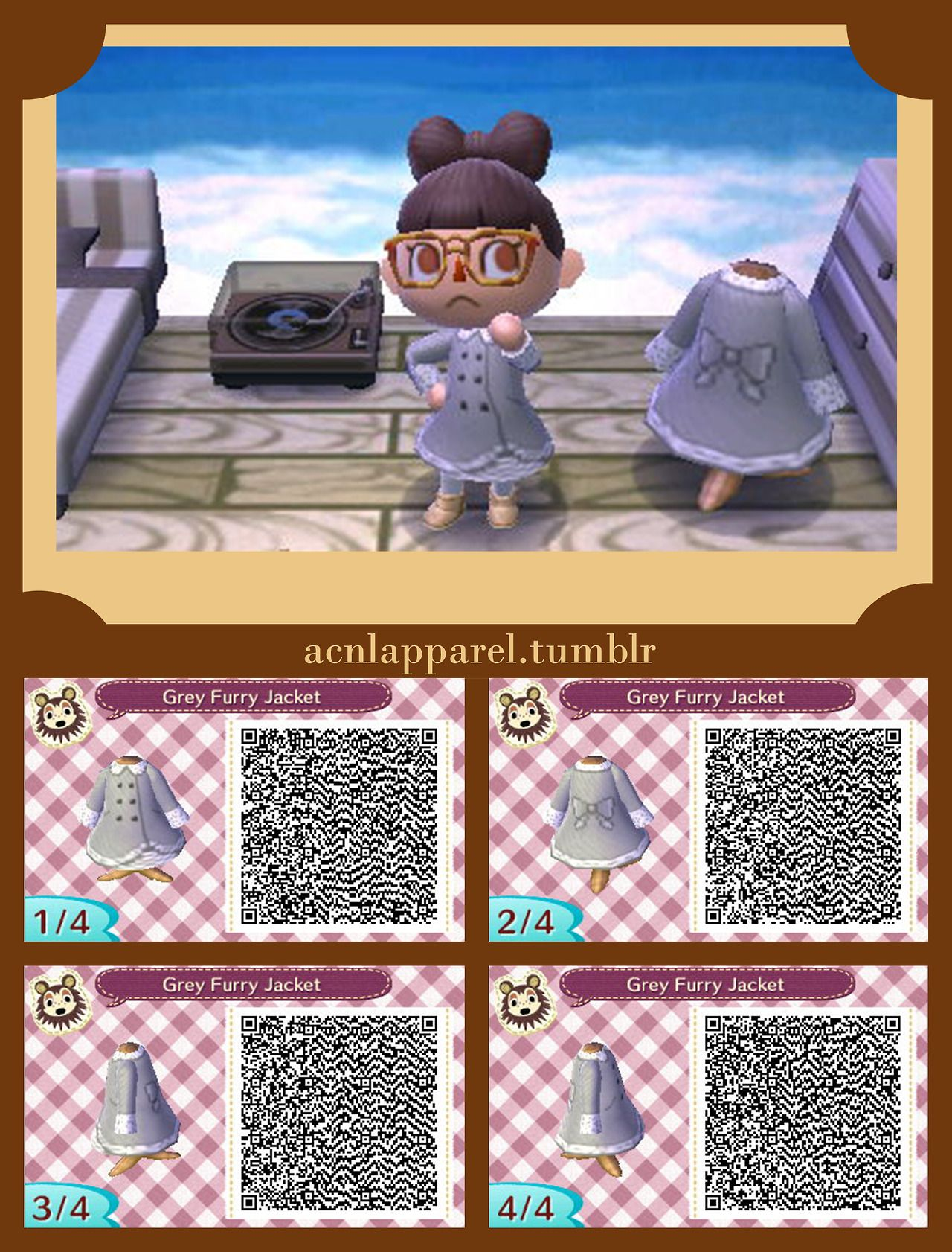 ACNL QR Code Jacket Dress Animal Crossing (The video