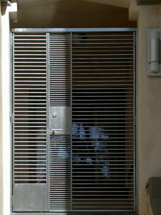 metal gated-door & metal gated-door | Designed | Entrances | Pinterest | Gate Doors ...