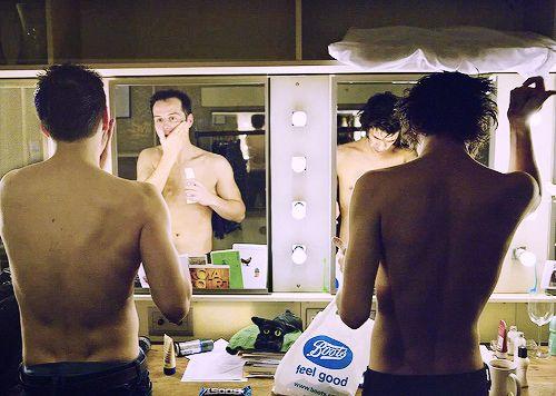 Ben's very attractive shoulders and back...