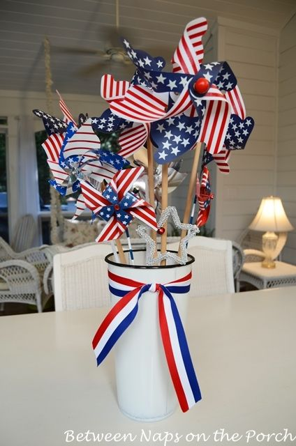 easy 4th of july centerpiece table decoration