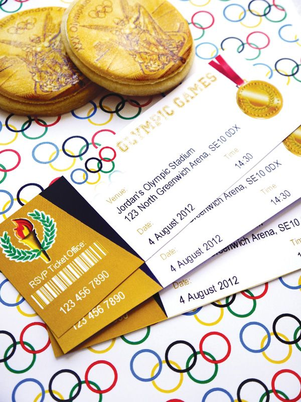Throwing an Olympics Party? Some of the coolest printables, snacks - ticket invitation template