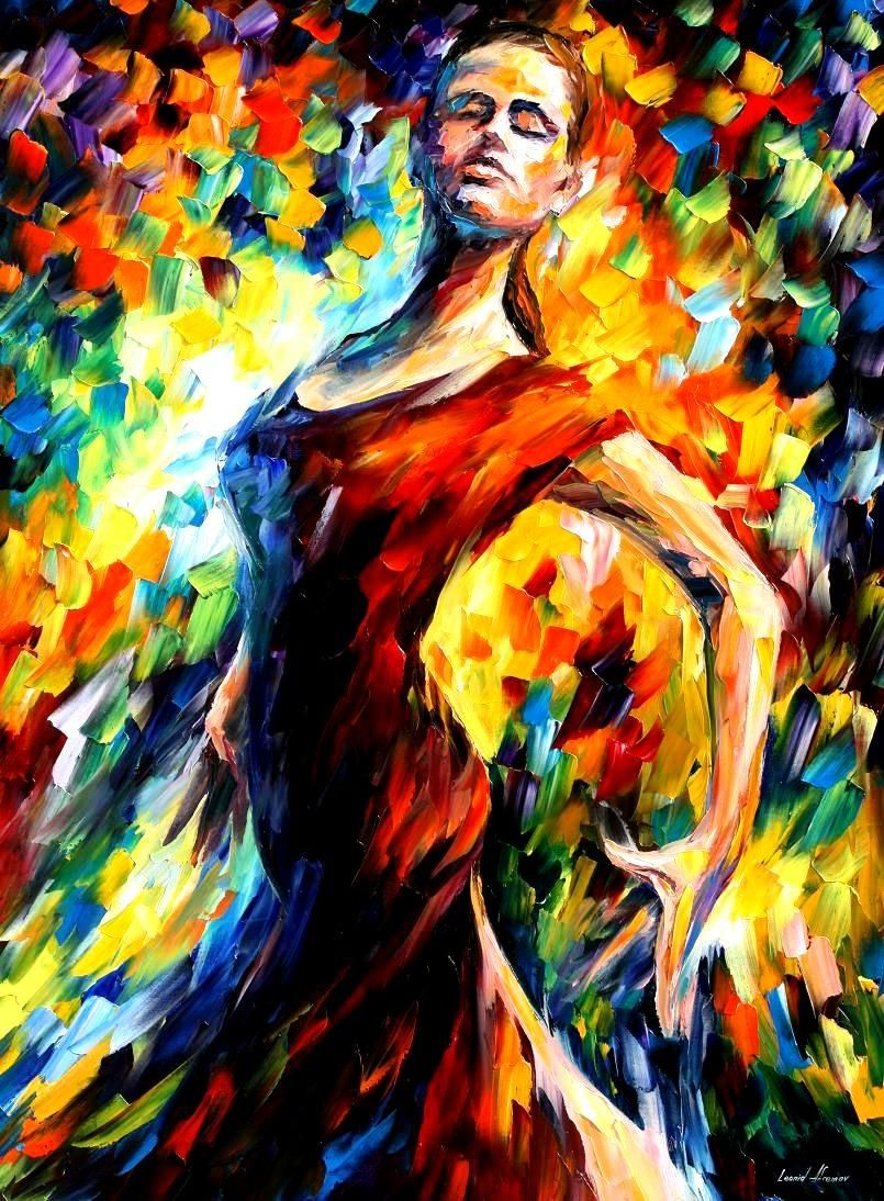 IN THE STYLE OF FLAMENCO - Palette knife Oil Painting on Canvas by ...
