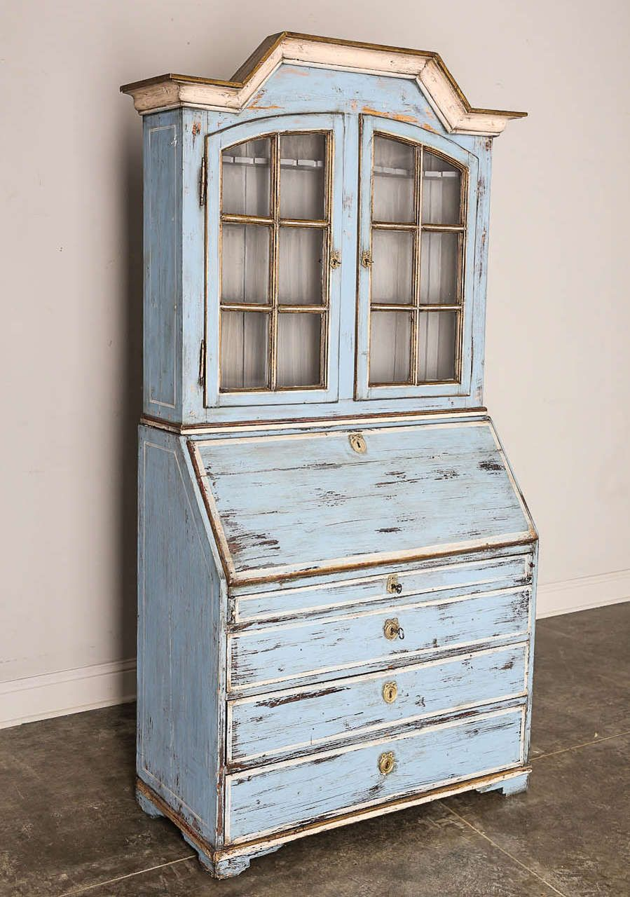 19th Century Swedish Drop Front Desk Or Secretary