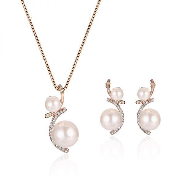 Jewelry set in stone fashion artificial pearl jewelry set drop