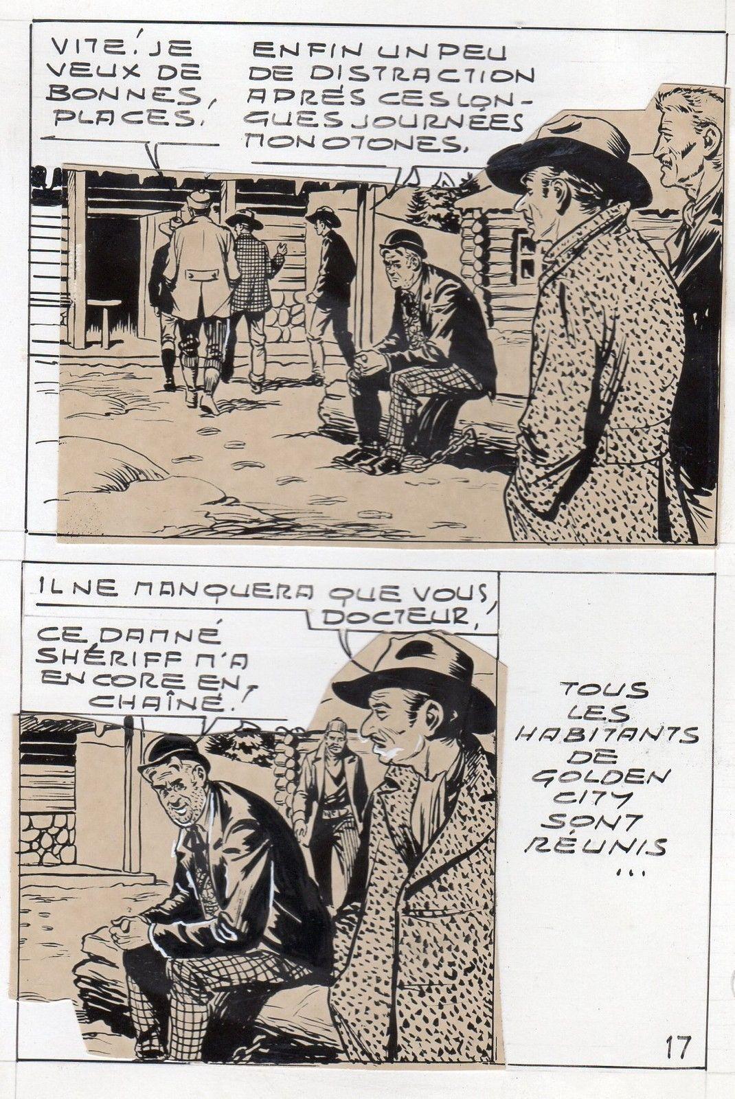 MIKI LE RANGER LES TRAPPEURS  PLANCHE  MONTAGE NEVADA 1959 PIECE UNIQUE PAGE 17 fr.picclick.com