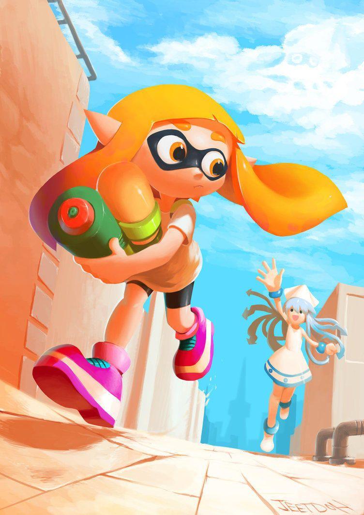 Squid Meets Squid Splatoon Splatoon Nintendo Splatoon Splatoon Squid