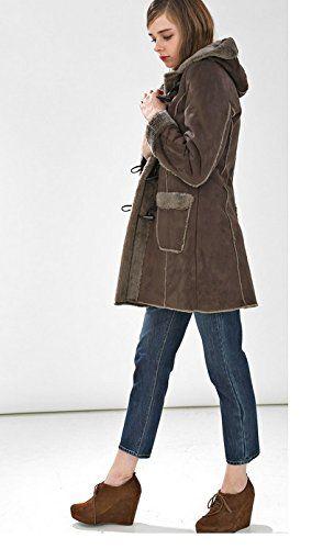 Amazon.co.jp: (プレフェリール) PREFERIRムートン コート フェイクムートン ダッフル M ブラウン: 服&ファッション小物通販