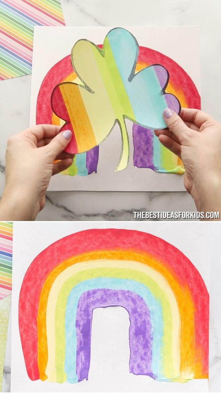 Shamrock Scrape Painting - The Best Ideas for Kids