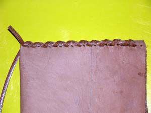 Cosido con tireta de cuero II