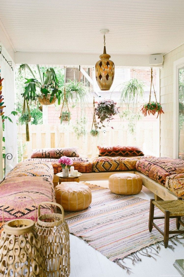 Best Modern Rustic Bohemian Living Room Design Ideas 06 640 x 480