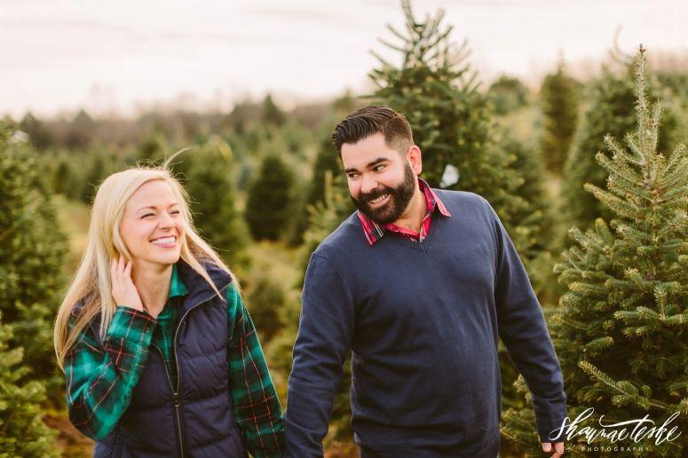 Megan Tony Wisconsin Photographer Couple Photography Tree Farms