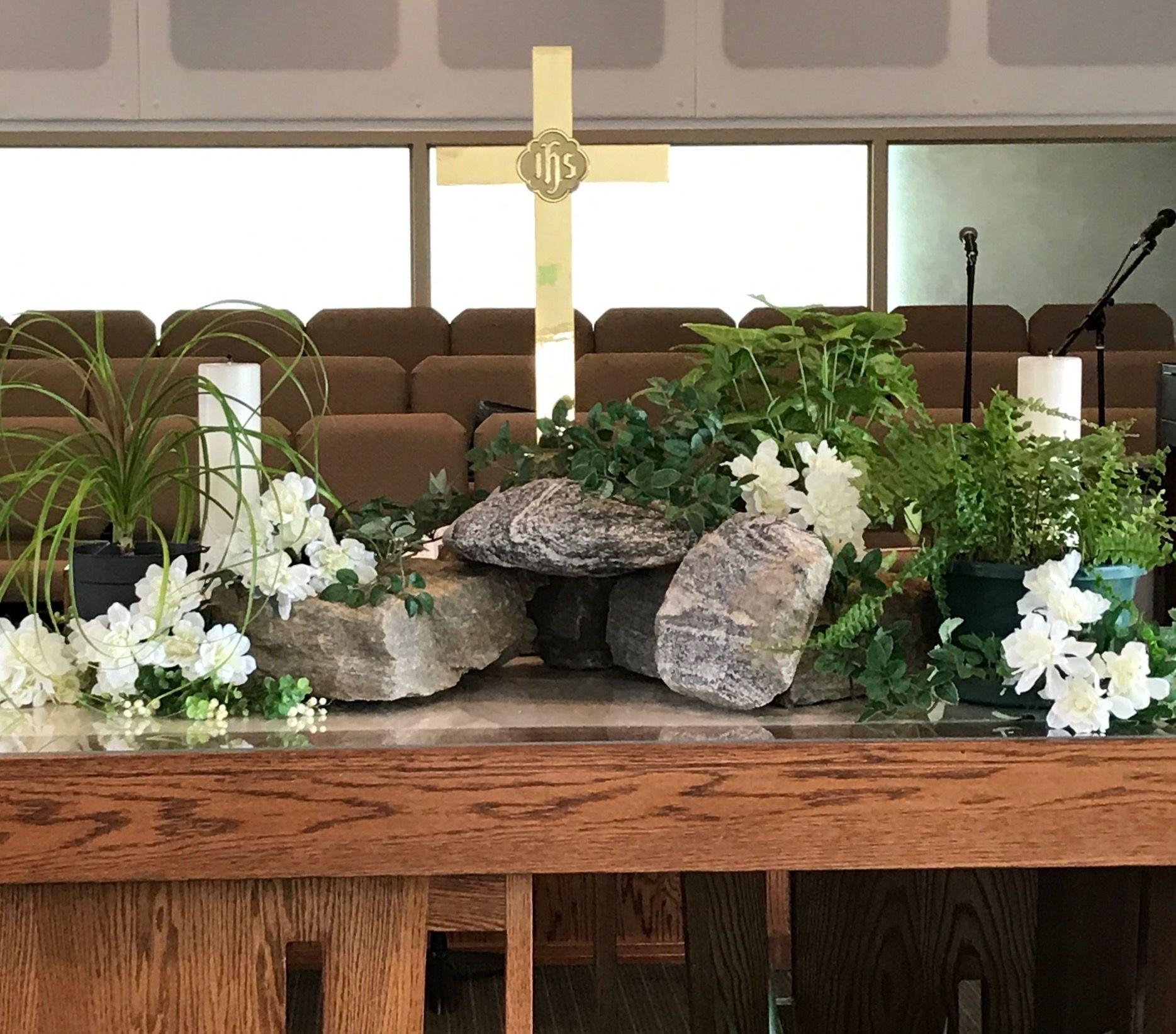 Church Altar Decorations, Easter Altar