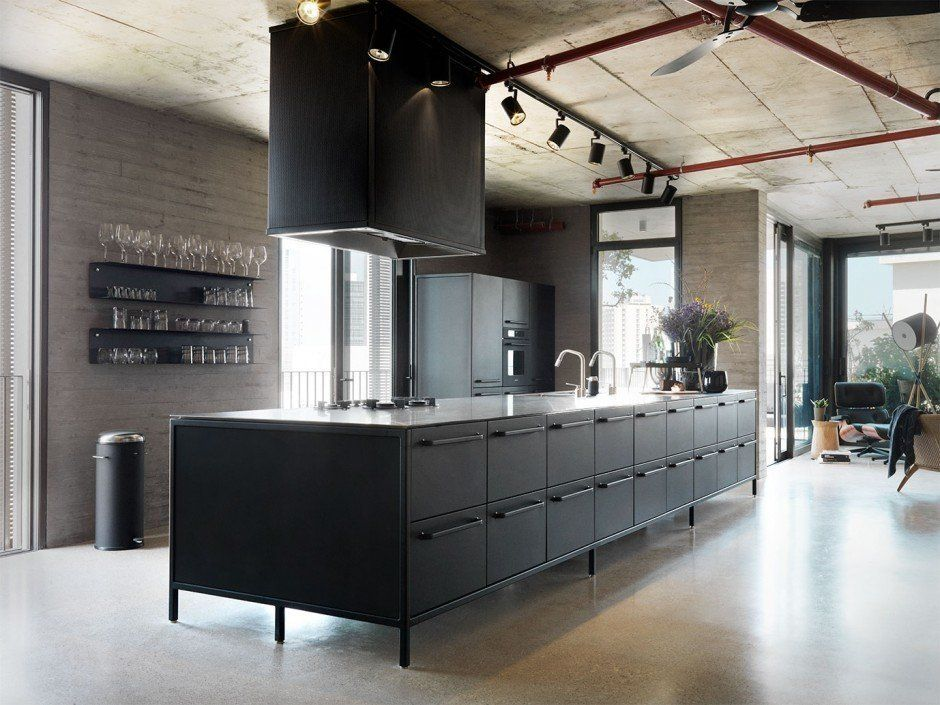 Visually Striking Industrial Loft Style Home In Tel Aviv Modern