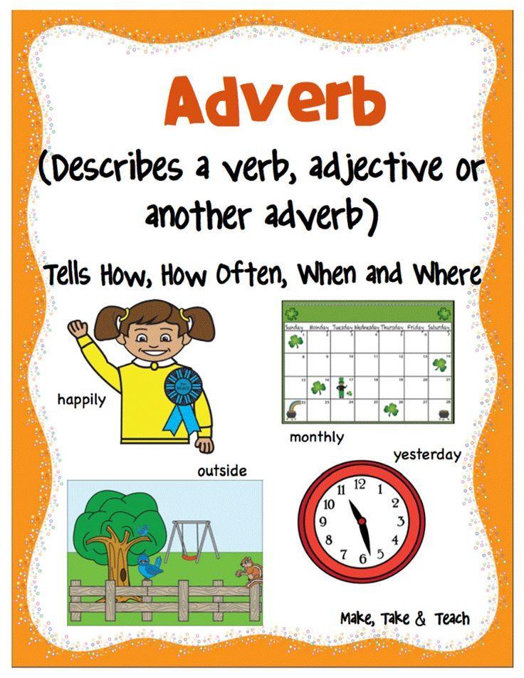 Nouns, Verbs and Adjectives Parts of speech, Teaching