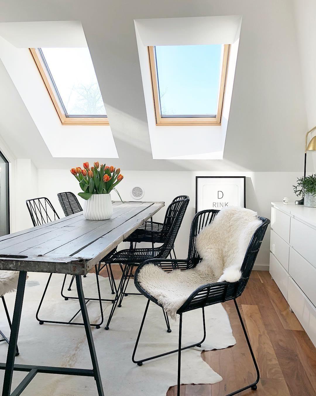 Teppich Esszimmer Skandinavisch Wandfarbe Grau Als Dezent Und Edel