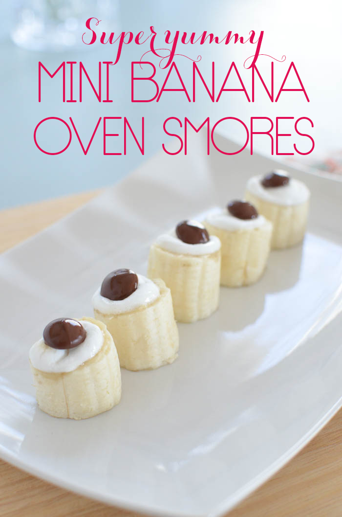 Mini Banana Oven Smores are the perfect snack for when your gluten-free self is craving a chocolatey, marshmallowy snack!