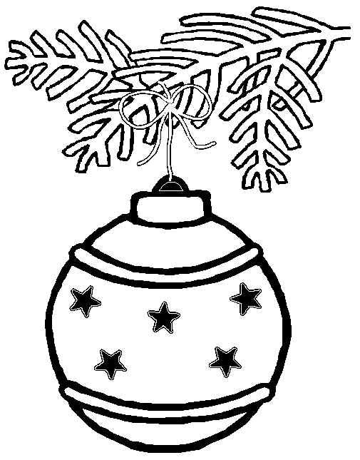 Christmas Tree Decorations Coloring Pages Designs Collections