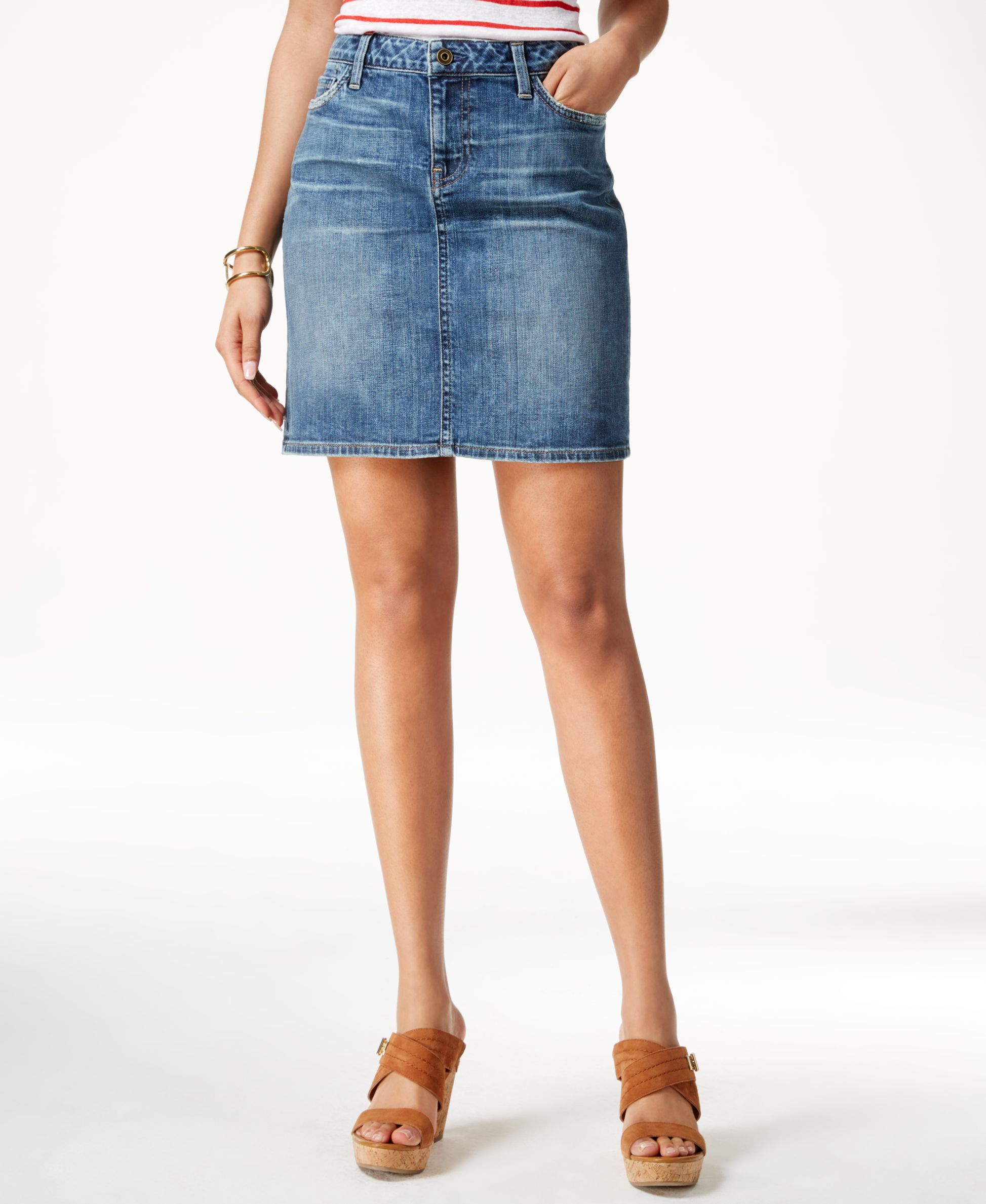 best cheap classic the best Tommy Hilfiger Denim Medium Wash Pencil Skirt | Shopify ...