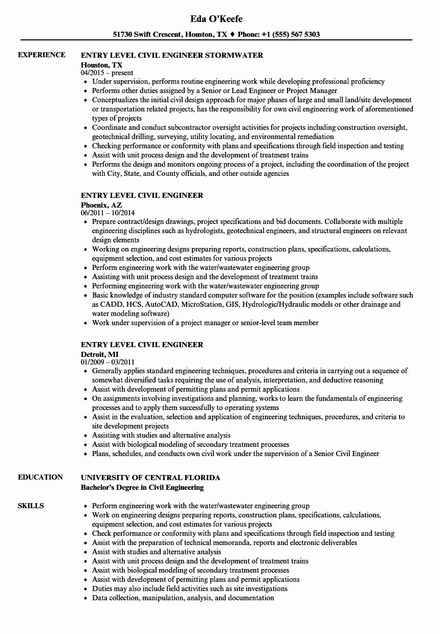 23 Civil Engineer Resume Examples in 2020 Resume
