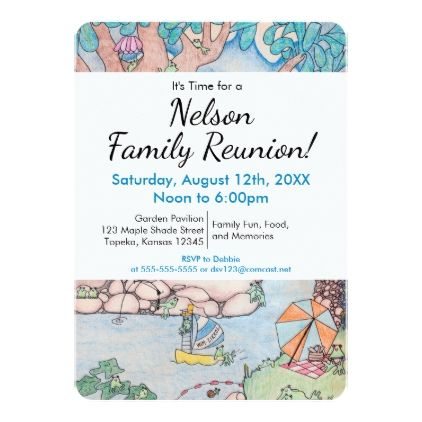Frog Treehouse Family Reunion Invitation Custom R Card  Family