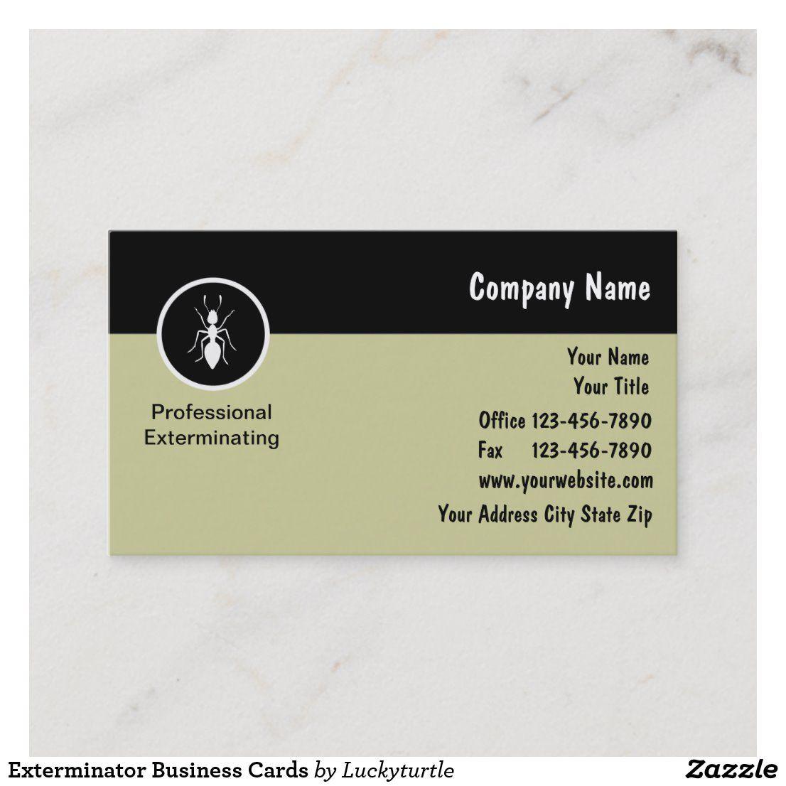 Exterminator Business Cards Zazzle Com Exterminator Personal Business Cards Business Cards