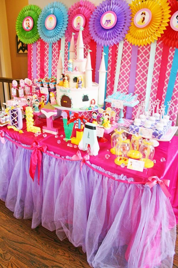 Princess Party Disney Princess Birthday Party For Zoey