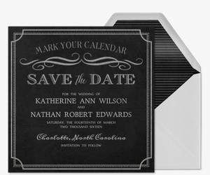 Sample Save The Date 70s Birthday Party