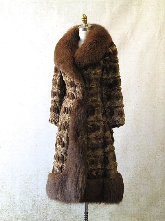 GLAM SLAM Vintage 1970's Sable and Fox Fur Coat by lovestreetsf