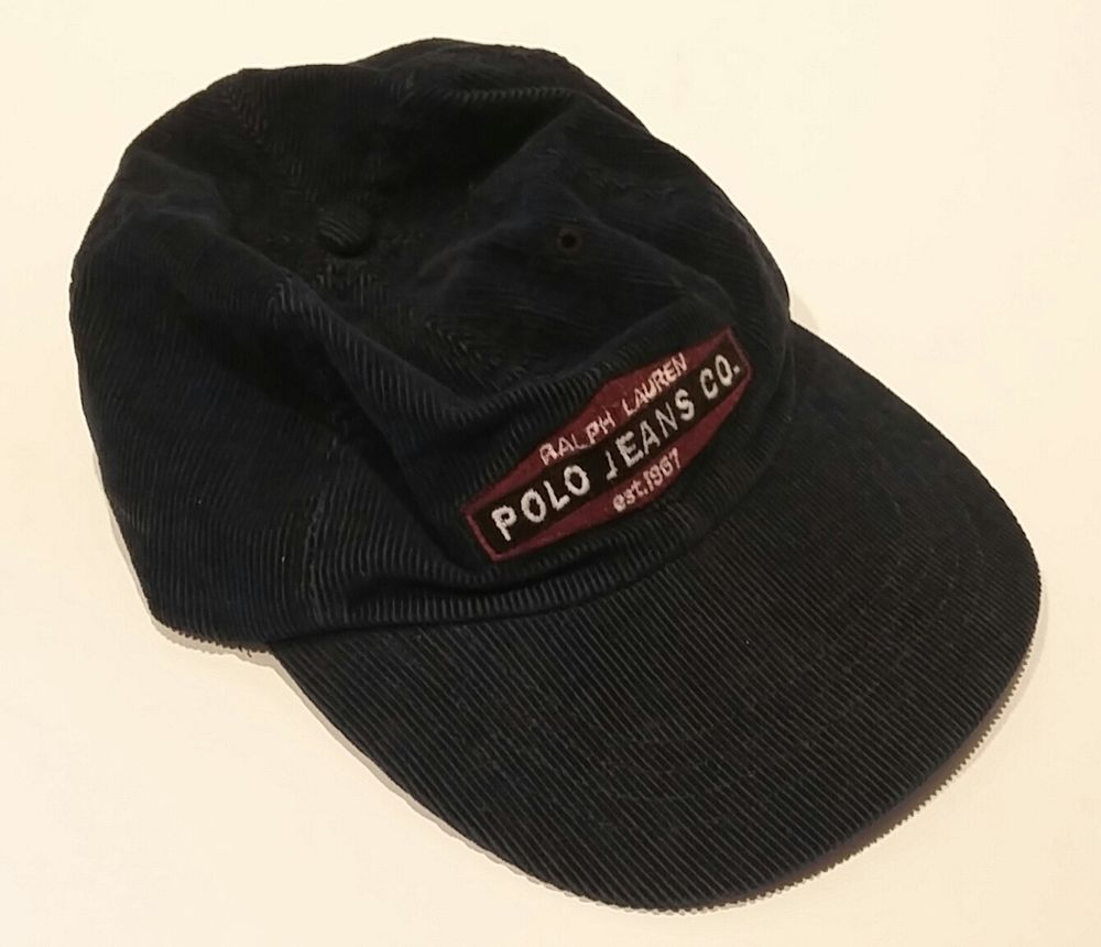 a8579fd76b01a RALPH LAUREN Polo Jeans Co. Baseball Hat Cap BLUE CORDUROY Adjustable  Cotton  RalphLauren  BaseballCap