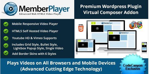 Download Visual Composer Addon : MemberPlayer HTML5 Video v1.13.0 Download Visual Composer Addon : MemberPlayer HTML5 Video v1.13.0 Latest Version