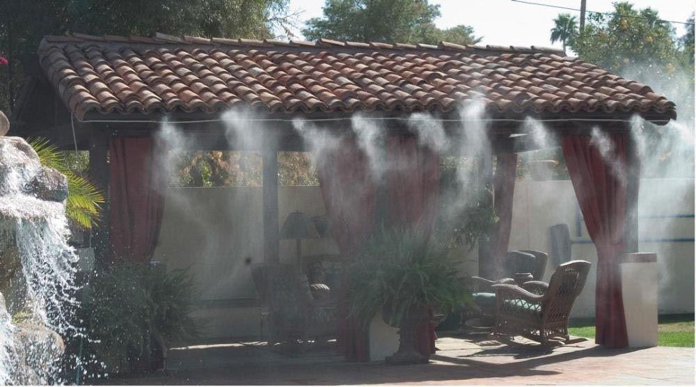 DIY Deck Misting System   Outdoor Fountains   Patio mister, Diy deck