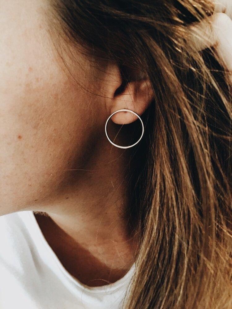 Fashion Women Jewelry 925 Silver Plated Elegant Ear Stud Hoop Dangle Earring