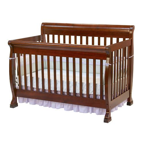 Kalani 4 In 1 Convertible Crib With Toddler Rail Cherry