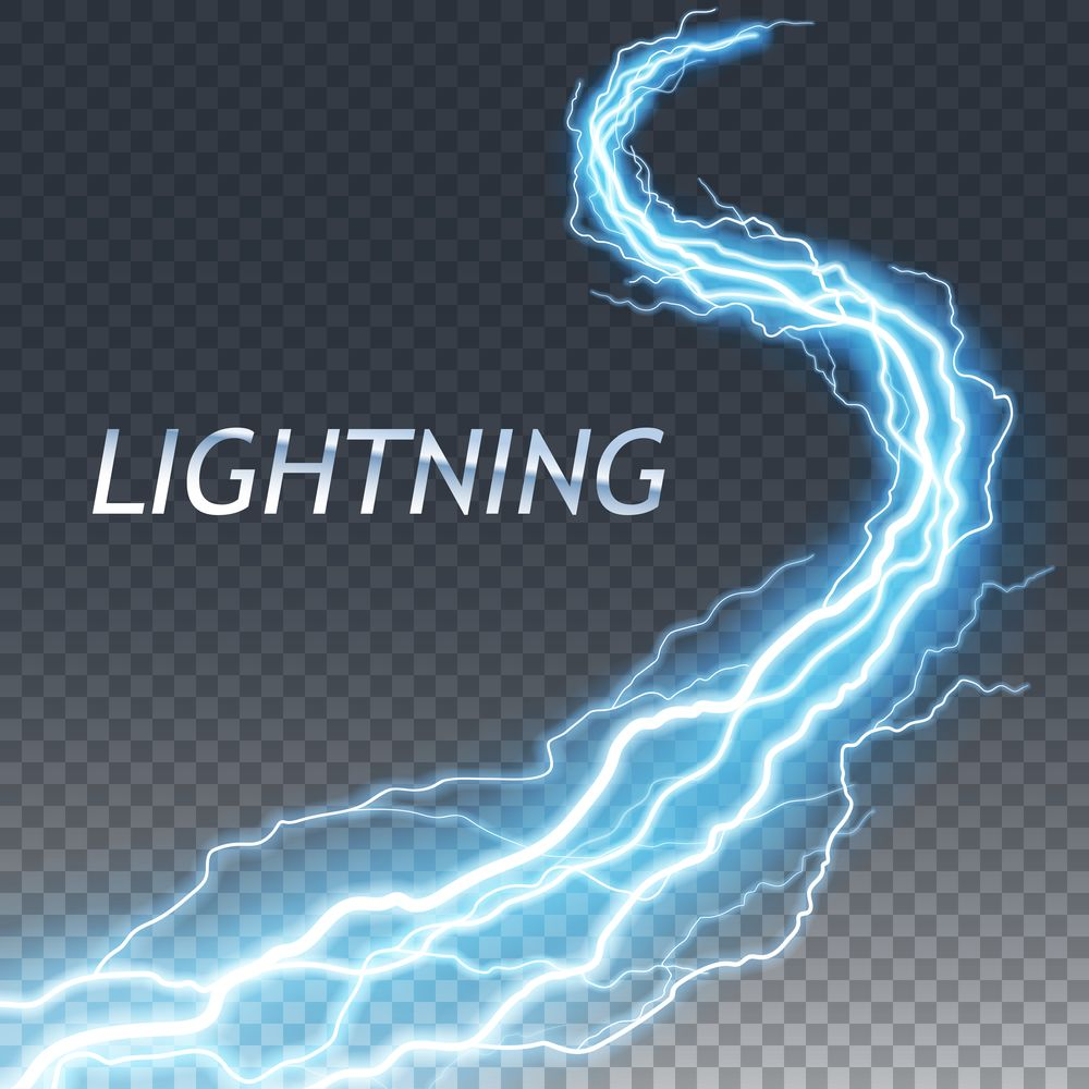 Lightning And Thunder Bolt Or Electric Glow And Sparkle Effect