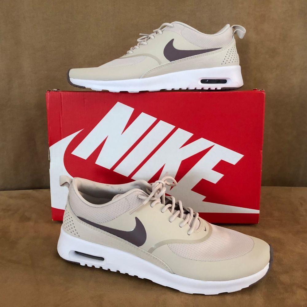 10 Womens Nike Air Max Thea Tan Beige Cream Sneaker Shoe