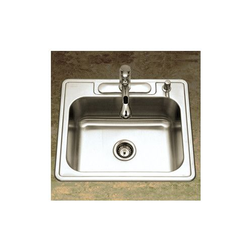 Glowtone 25 L X 22 W Topmount Single Bowl 18 Gauge Kitchen Sink