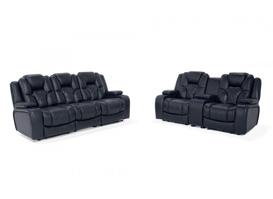 Gladiator Dual Power Reclining Sofa Amp Console Loveseat