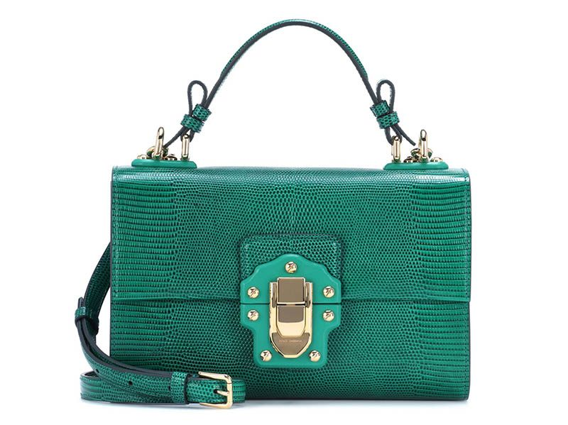Dolce & Gabbana Lucia Embossed Leather Shoulder Bag $1,995