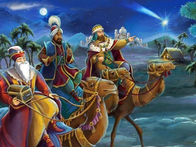 Felicitaciones De Navidad Con Los Reyes Magos.Reyes Magos Santa Claus Y Navidad Tarjetas De Reyes