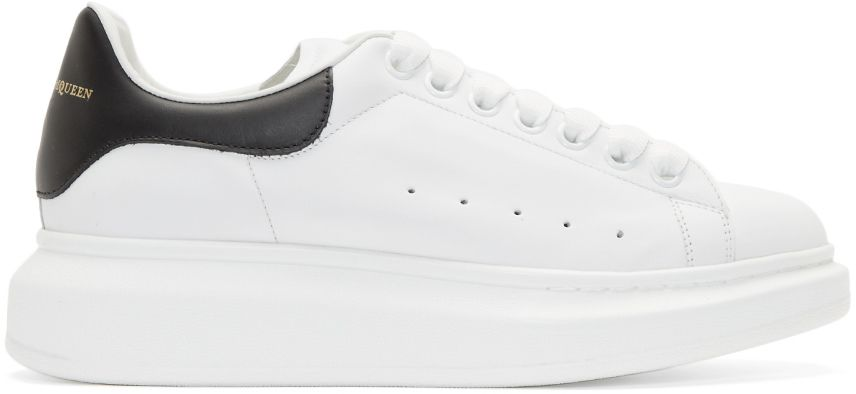 Alexander McQueen White Thick Sole Sneakers | Sneakers are ...