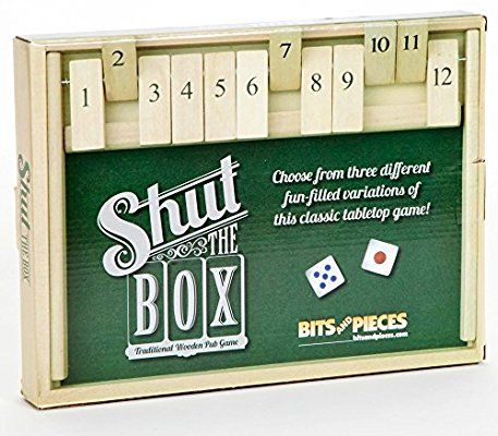 Amazon Bits And Pieces Wooden Shut The Box 12 Dice Game Board