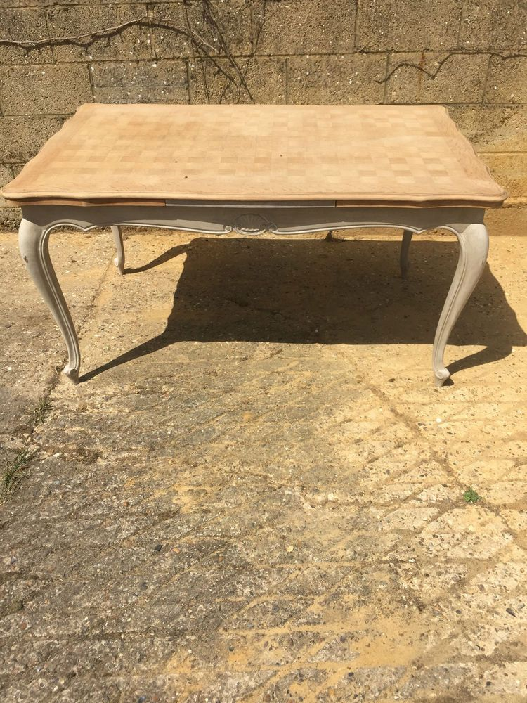 Ft Vintage French Extending To Ft Oak Louis XV Provencial Style - 8ft dining table