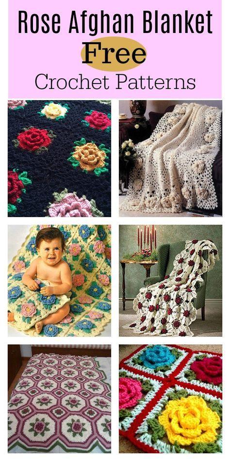 Crochet Rose Granny Square Afghan Free Patterns Crochet Afghans