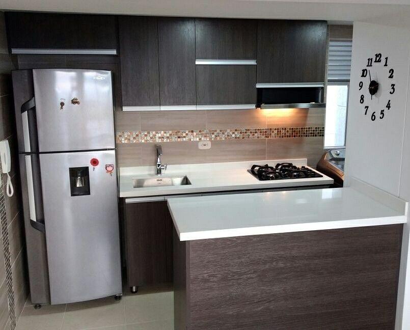 Cocinas Integrales En Rh Con Perfileria En Aluminio Y Meson En