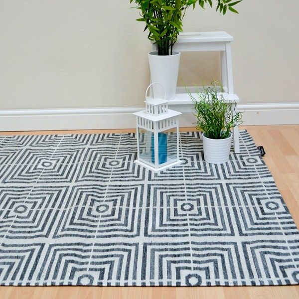Be Square Rugs Bes01 Black Free Uk