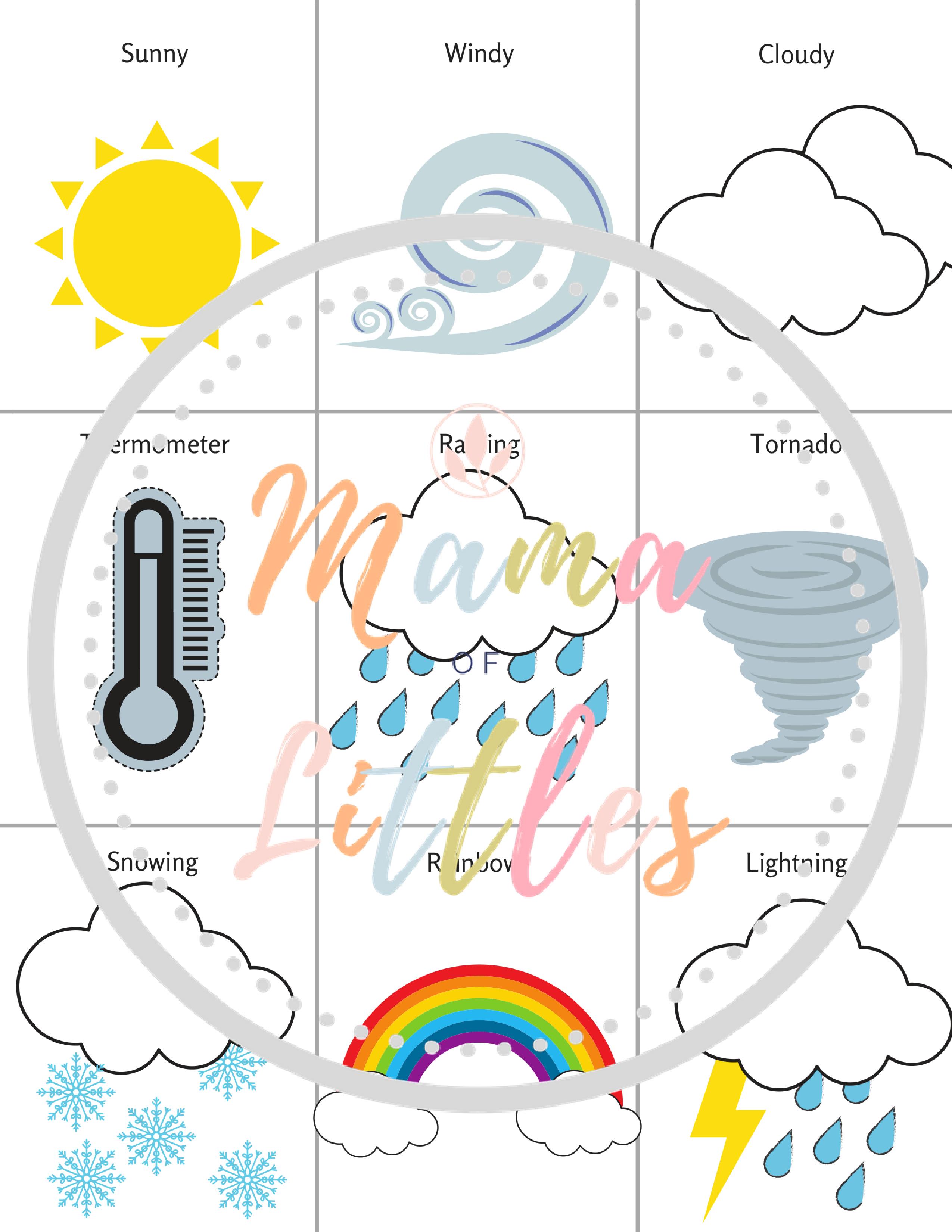 Weather Preschool Toddler Packet