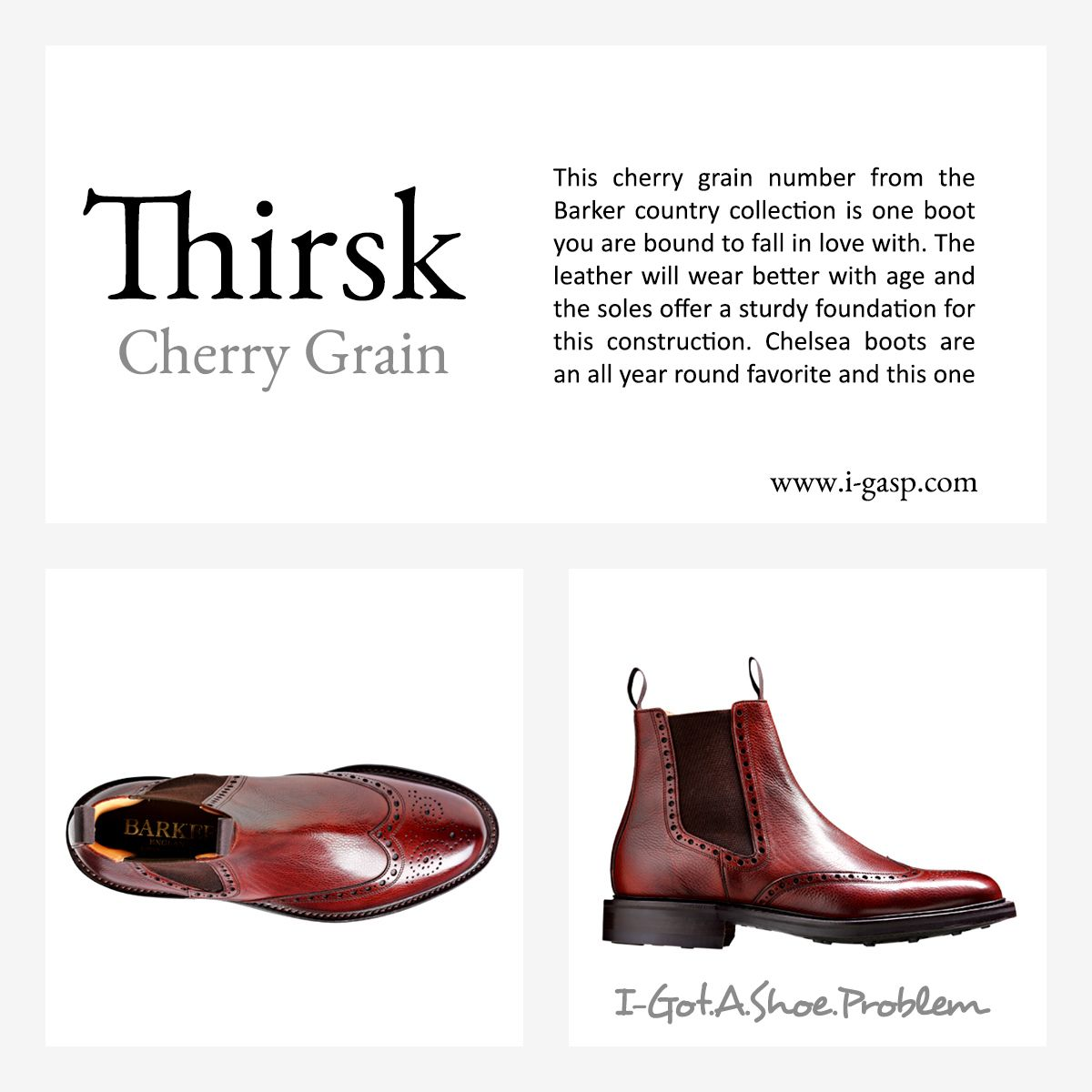 a588a61c This cherry grain number from the Barker country collection is one boot you  are bound to