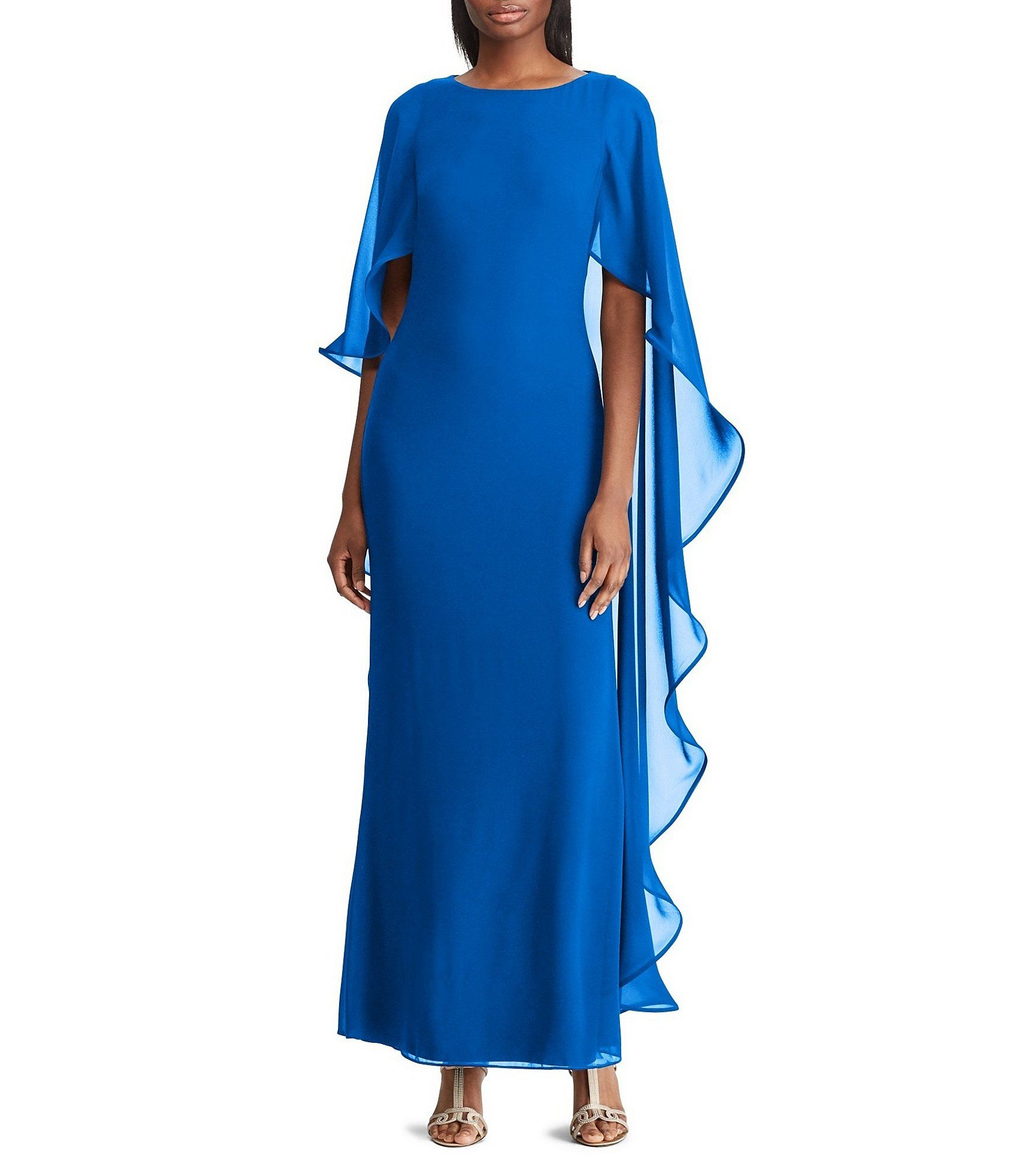 e73340557d4d Shop for Lauren Ralph Lauren Cape Overlay Georgette Gown at Dillards.com.  Visit Dillards